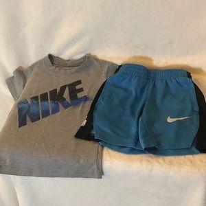 Nike Boys Shorts and T-Shirt Size 4